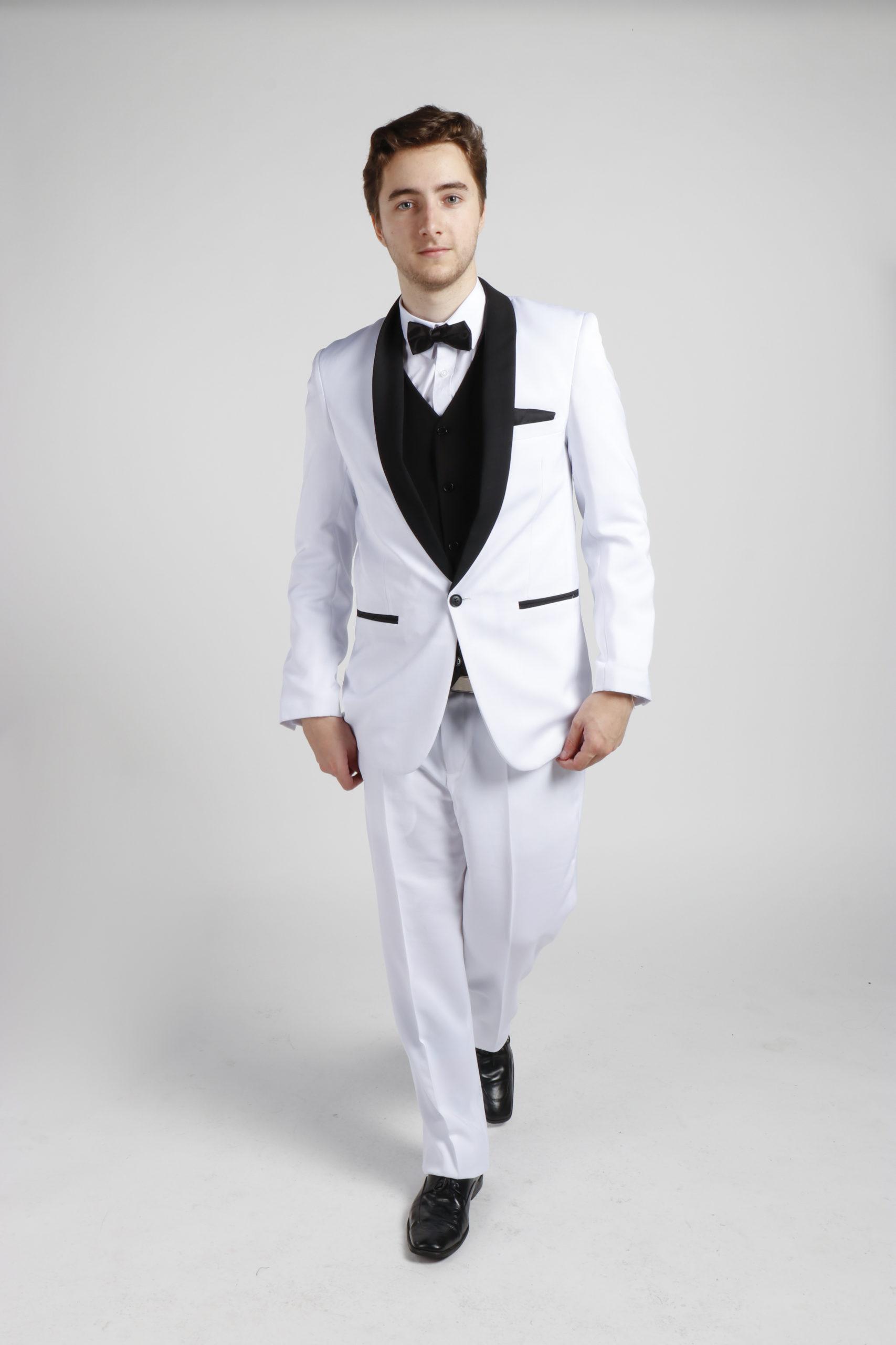 All White Tuxedo Hire